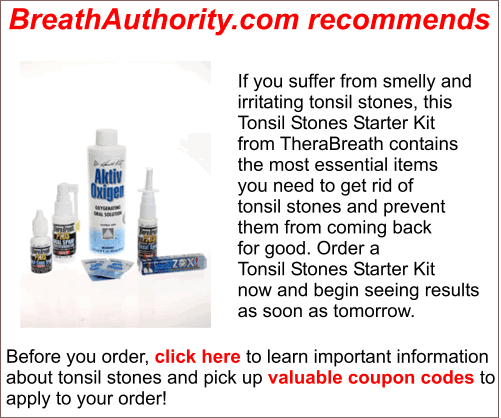 tonsil stones, bad breath, halitosis